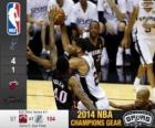 2014 NBA The Finals, 5th match, Miami Heat 87 - San Antonio Spurs 104