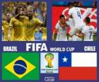 Brazil - Chile, Eighth finals, Brazil 2014