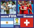 Argentina - Switzerland, eighth finals, Brazil 2014