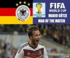Mario Götze, best player of the final. Brazil 2014 Football World Cup