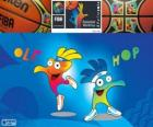 Ole and Hop, mascots of the 2014 FIBA Basketball World Cup