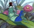 Flip the grasshopper with his top hat