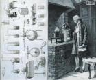 Antoine Lavoisier (1743-1794), French chemist, considered the creator of modern chemistry