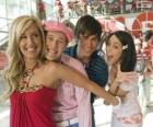 Sharpay Evans, Ryan Evans, Troy Bolton and Gabriella Montez