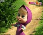 Masha, the little girl, the main character of Masha and the Bear