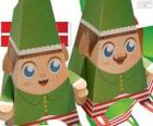 Christmas elves of paper