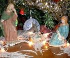 The Nativity scene figurines