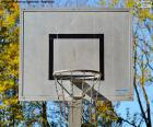Basketball basket, formed by the hoop, the net and the board