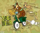 Yogi and Boo-Boo bears on a motorcycle