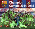 FC Barcelona, champion 2014-2015