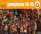 Galatasaray, champion 14-15