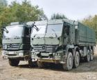 Two military trucks Mercedes-Benz, one of them armored