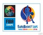 EuroBasket 2015 logo. European Championships of FIBA Eurobasket 2015. The championship will be held in four countries, Germany, Croatia, France and Latvia
