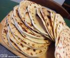 Piadina romagnola is a flatbread typical of the provinces of la Romagna in the Emilia-Romagna Region, Italy