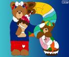 Letter R of bears