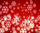 Red background snowflakes