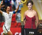 FIFA Women's World Player of the Year 2015 winner Carli Lloyd