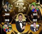 Lionel Messi best player by the year 2015, their fifth FIFA Ballon d'Or