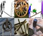 A simple machine is a mechanical device that changes the direction or magnitude of a force, wheel, lever, the pulley, screw, wedge and inclined plane are some simple machines