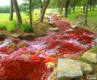 Landscape with a river red