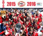 PSV Eindhoven, champion of the Dutch League Eredivisie 2015-2016, for second consecutive year