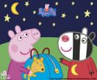 Peppa pig and Zoe Zebra