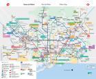 Barcelona Metro map