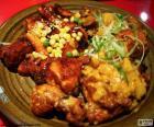 Korean style chicken, a very spicy dish