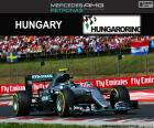 Nico Rosberg, second in the Grand Prix of Hungary 2016 with its Red Bull