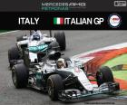 Lewis Hamilton, third in the great prize of Italy 2016 with its Mercedes