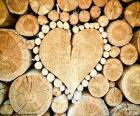 Trunk in shape of heart