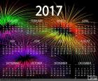 Calendar 2017, happy new year