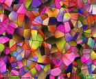Polygons geometry of various shapes and colors. A polygon is a figure straight-sided flat