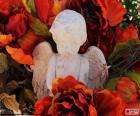 Angel among flowers