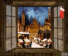 Christmas market, window