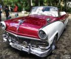Beautiful antique car in perfect condition of the Ford brand, model Fairlane, convertible bodywork, built in 1956