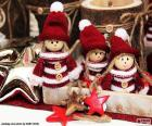 Three Christmas dolls