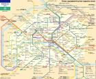 Map of the Paris Métro