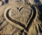 Heart at the beach
