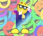 Letter P of smiley