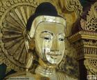 Golden Buddha head