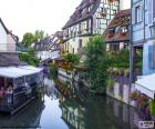 Colmar is a beautiful city with traditional buildings, capital of the Haut-Rhin, Alsace, France