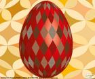 Easter egg with rhombus