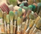 School paintbrushes