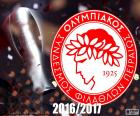 Olympiacos FC, champion of the Super League 2016-2017, Greek Soccer League, Olympiacos is one of the four major football clubs in Greece