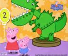 Peppa Pig and the dinosaur