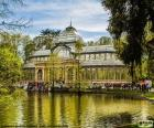 The Palacio de Cristal is a structure of metal and glass located in the Park of the Retiro of Madrid, Spain