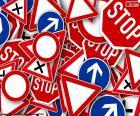 Several traffic signals