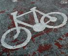 Painted bicycle, signal