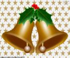 Two Christmas bells